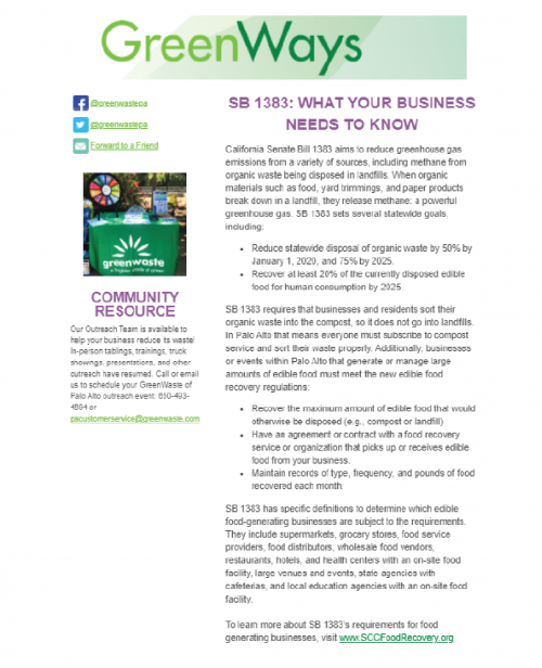 GreenWaste Fall 2021 Commercial Newsletter Image